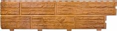 Формованный сайдинг Альта-Профиль Сланцевая порода цвет Золотистый