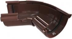 Угол жёлоба 120-145° ПВХ Элит (цвет коричневый)