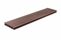 Террасная доска, ArtDeco, Темно-коричневый, Шлифовка + Тиснение (стандарт), 3м.